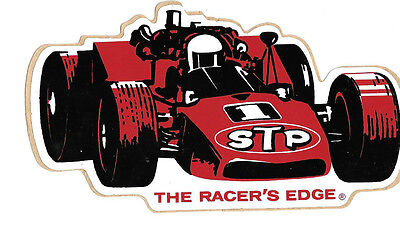 Original 1970s STP Indy Sticker with Peel Off Backing