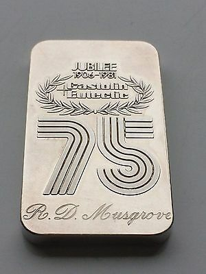 Extremely Rare Credit Suisse Castolin Eutestic 75 Year Anniversary 50G Bar