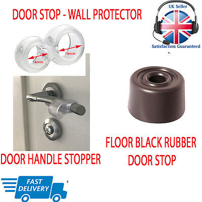 Wall Protector Door Handle Stop Rubber Fixing Free Stopper Stoppy Bumper Guard