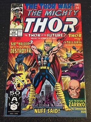 Mighty Thor#438 Incredible Condition 9.0(1991) Future Thor, Frenz Art!!