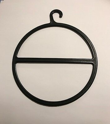 10 Circular Black Plastic Display Hangers for Scarves, Ties, Belts etc etc