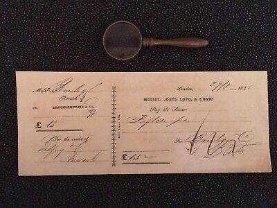 London Bank Cheques: 1845-1853
