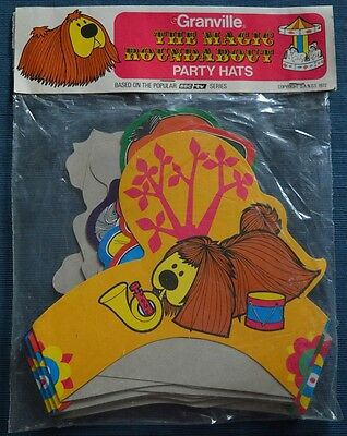 Granville Vintage The Magic Roundabout Party Hats still sealed 10 hats
