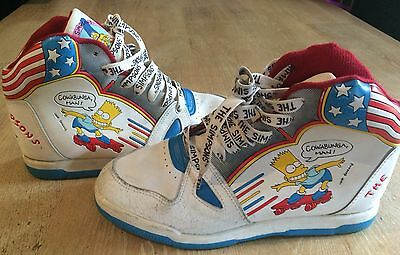 Rare Bart Simpson Trainers/Shoes Vintage 1991 UK Size 5 The Bart Boot Groening