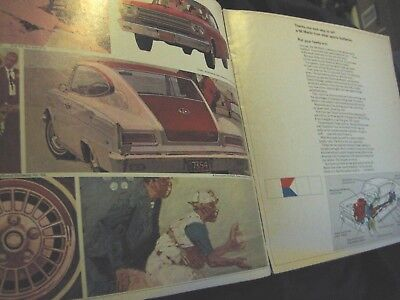 1966 American Motors Car Advertising brochure great for car shows or display NoR