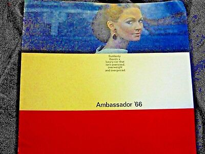 1966 Ambassador Car Advertising brochure great for car shows or display + NoRes