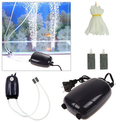 Air Bubble Disk Stone Aerator Pond Pump Hydroponic Oxygen Aquarium Fish Tank Kit