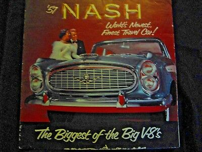 1957 Nash Classic Car Advertising brochure great 4 car shows & display with car