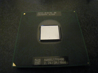 Intel Core 2 Duo P8400 2.26GHz 3MB 1066MHz Socket P Laptop Processor CPU SLB3R