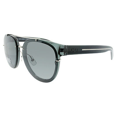 70cc05bf98 Christian Dior Black Tie 143S AUN Transparent Grey Black Plastic Sunglasses  Grey