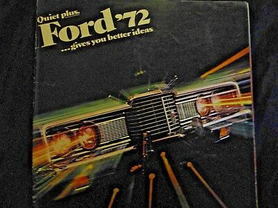 1972 Ford classic car Advertising brochure great 4 car shows display + No RES