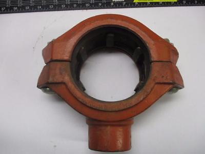 """Victaulic Outlet Coupling, 4"""", Style 72 with Female 1 1/2"""""""