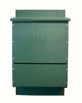 Songbird Essentials Recycled Poly OBC Bat House Triple Chamber Green Holds 300
