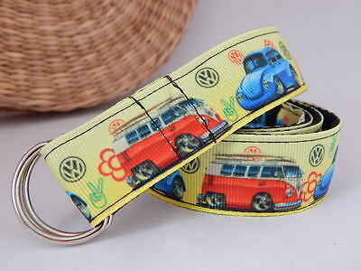 Handmade belt for toddlers with cars hook and loop d-ring belt UK made