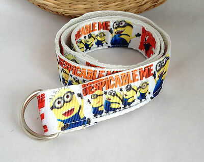 Minions TODDLERS Belt- Despicable Me, Handmade, adjustable HOOK AND LOOP, D-RING
