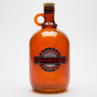 Barbuzzo Growler Jug Brown  Brand New In Box