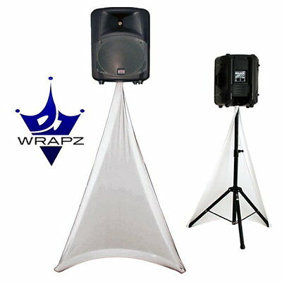 Wrapz Scrim White Double Sided Speaker Stand Scrim/Covers+Carry Pouch PAIR NEW 2
