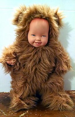 """ANNE GEDDES BEAR LION PLUSH DOLL 1997 Unimax 16"""" Animal Brown Removable rubber"""
