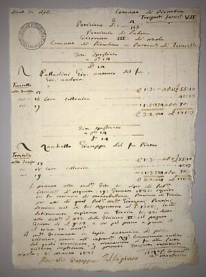 Italy Undated Original Old Business Document Piombino Commune with Hand Stamp