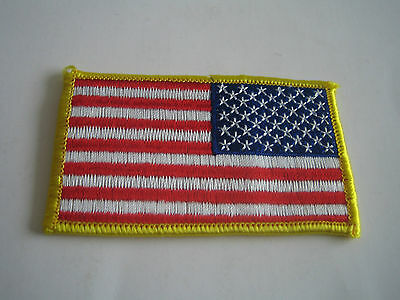 Reverse Usa American Flag Patch