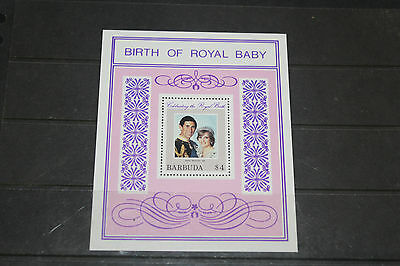 Barbuda 1982 Birth Of Prince William Royal Baby Minature Sheet Very Fine M/n/h