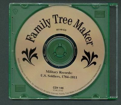 Military Records U.S. Soldiers 1784-1811 War Genealogy CD