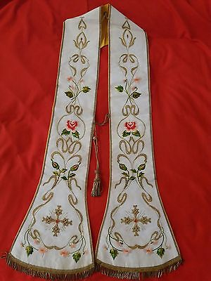 Stole, Lace alb, surplice, chasuble, vestment, catholic, Mass
