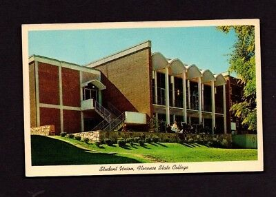 Postcard Florence AL Florence State College Student Union *3296