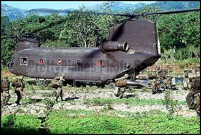 US Army CH-47 Chinook Operation Uphold Democracy 1995 8x12 Photo
