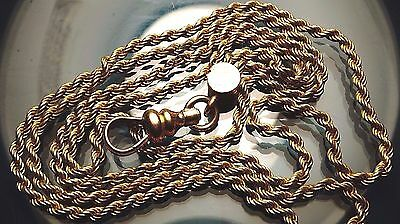 Antique Rope design  Gold Filled Pocket Watch fob double Chain 28 inches