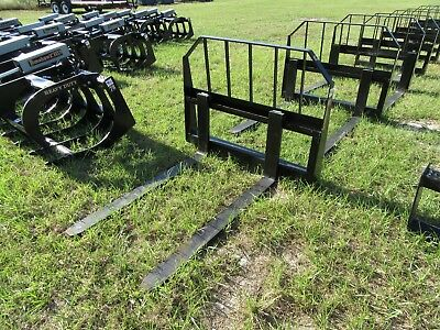 "Skid Steer / Tractor Heavy Duty 48"" Forks And Frame! Quick Connect Attachment"