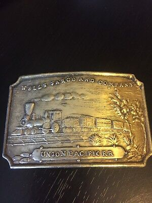 Wells Fargo and Company Union Pacific RR Belt Buckle