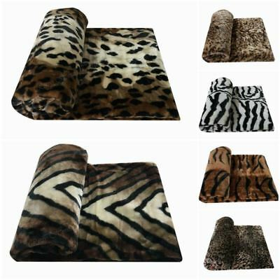 Animal Skin Luxury Mink Faux Fur Throws Soft & Warm Sofa / Bed Fleece Blankets
