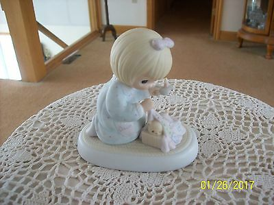 "Precious Moments  Vtg. ""Dawns Early Light"" 1983 Jonathan & David Figurine"