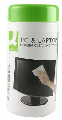 Q Connect Screen and Keyboard Wipes (Pack of 100)