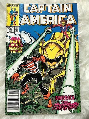 Captain America #339 1968 Series Fall Of The Mutants Mark Gruenwald