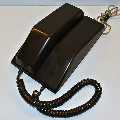 Vintage 1978 Northern Telecom CONTEMPRA Touch Tone Wall Desk Telephone Brown