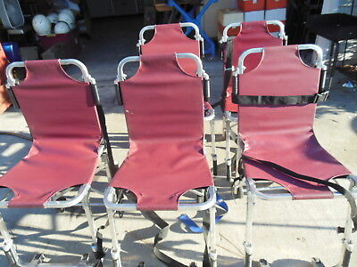 Lot of 5 Used Ferno Fire EMT EMS Stair Chair