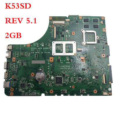 For Asus K53SD X53S A53S motherboard 60-N3EMB1300 REV 5.1  2GB HM65 GT610M