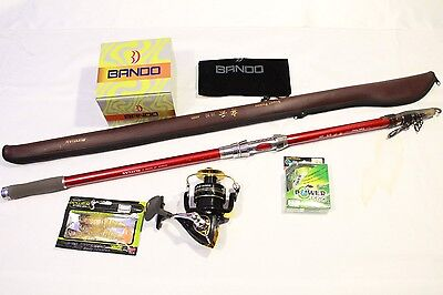 SURF COMBO!! 4.5m Surf Telescopic Rod + 8000 11BB REEL + PowerPro Line & lures