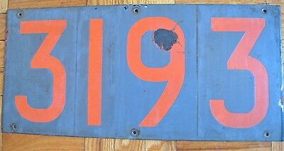 Vintage New York Subway Car Number Board Plate Sign R-10 3193 ACF