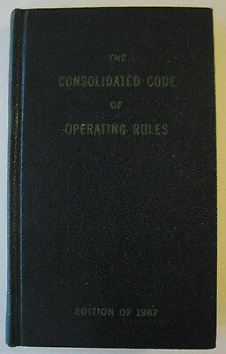 Vintage 1967 Consolidated Code Operating Rule Book Conductor Engineer