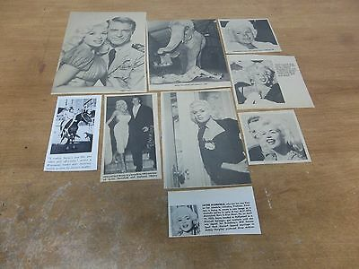 Jayne Mansfield  lot of  clippings #425