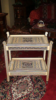 Museum Quality Colonial New Zealand Maori Tribal Art Tea Service Trolly Cart