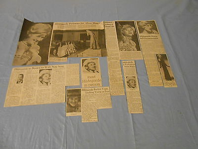 Hildegrarde rare lot of   clippings #G4