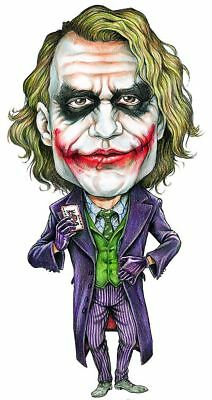 The Joker Heath Ledger Caricature Batman The Dark Knight Sticker or Magnet