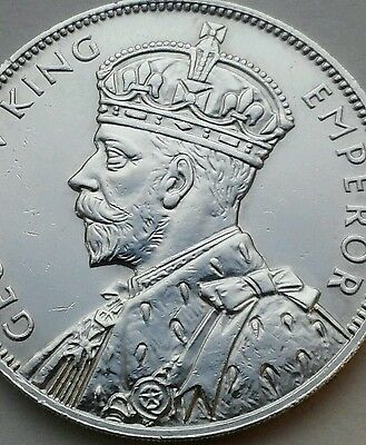 Mauritius 1 Rupee 1934. KM#17. .916 Silver Dollar coin. One year issue. George V