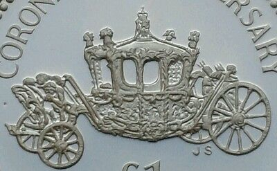 Alderney 1 Pound 1993. KM#4. Proof .925 Silver One Dollar coin. Royal Carriage.