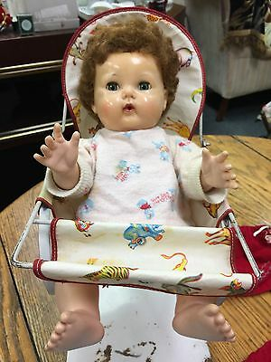 Vintage American Character Doll With Baby Rocker Snd Clothes