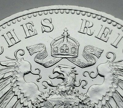 Germany,Prussia 5 Mark 1913A. KM#536. .900 Silver Crown coin. UNC. BU. MS. WhmII